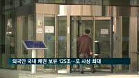외국인 국내 채권 보유액 125조 원…또 사상 최대